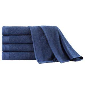 Badetuch-Set 5-tlg. Baumwolle 450 g/m² 100×150 cm Marineblau