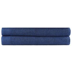 Saunatuch-Set 2-tlg. Baumwolle 450 g/m² 80×200 cm Marineblau
