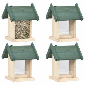 Vogelfutterhäuser 4 Stk. Tannenholz