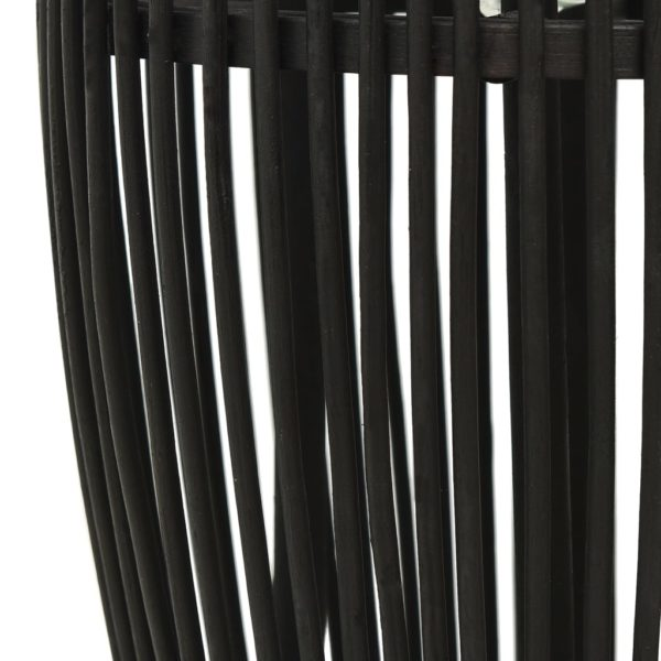 Pendelleuchte Schwarz Weide 40W 25×62 cm Oval E27