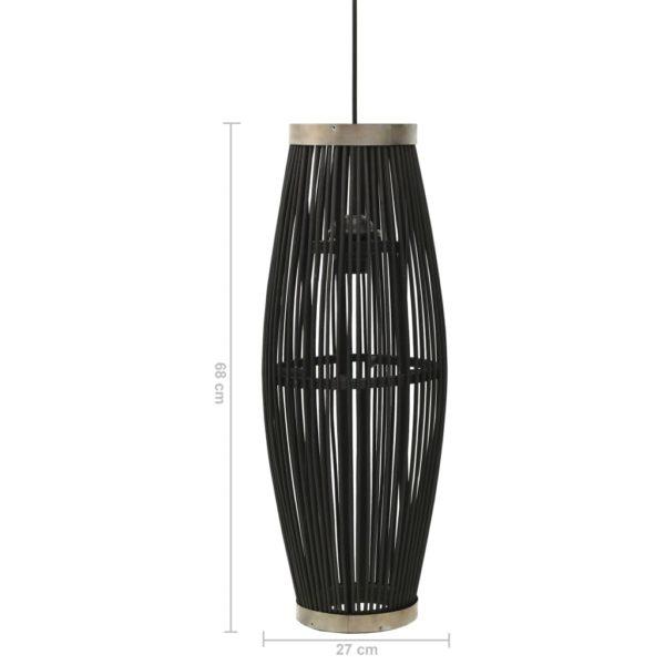 Pendelleuchte Schwarz Weide 40W 27×68 cm Oval E27