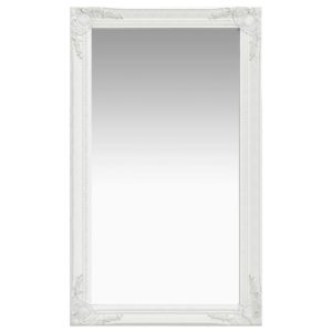 Wandspiegel im Barock-Stil 60 x 100 cm Weiß