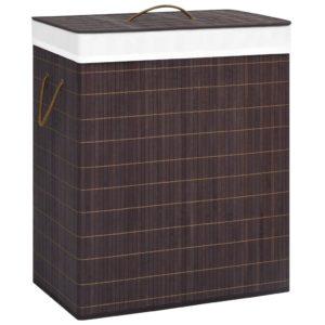 Bambus-Wäschekorb Braun 100 L