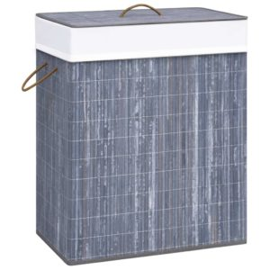 Bambus-Wäschekorb Grau 83 L