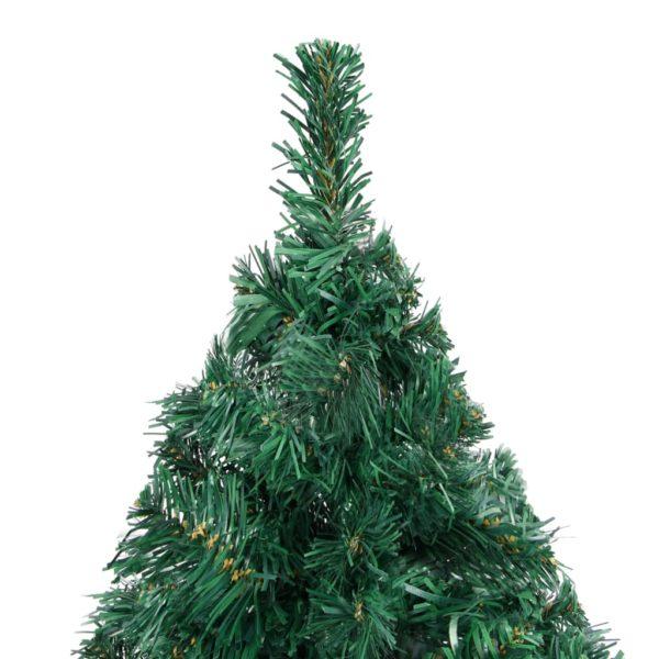 Künstlicher Weihnachtsbaum mit Dicken Zweigen Grün 150 cm PVC