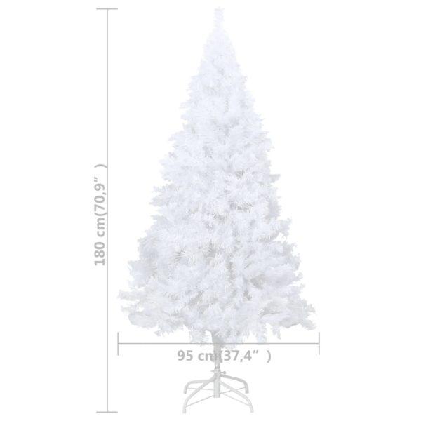 Künstlicher Weihnachtsbaum mit Dicken Zweigen Weiß 180 cm PVC