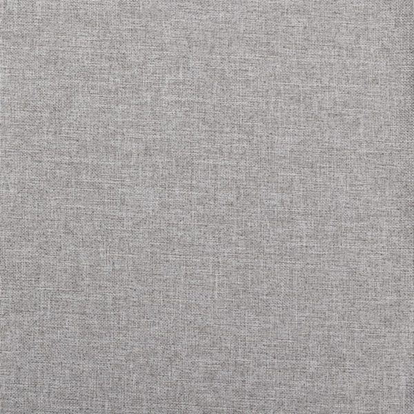 Verdunkelungsvorhänge Ösen Leinenoptik 2 Stk. Grau 140×245 cm