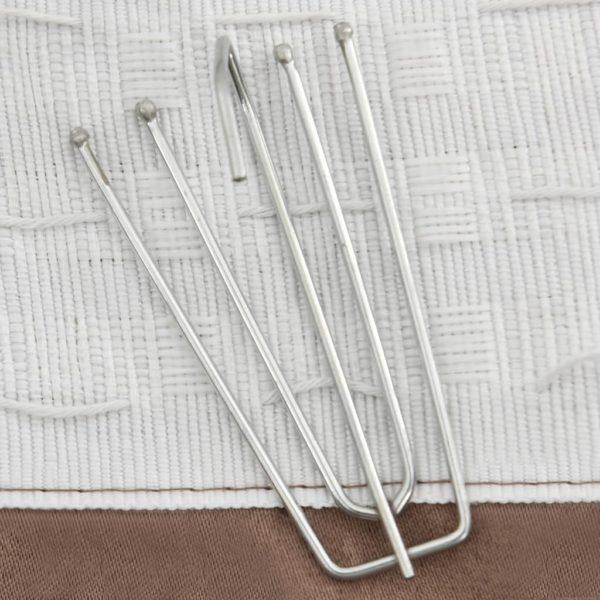 Verdunkelungsvorhänge Haken Leinenoptik 2 Stk. Taupe 140×245 cm