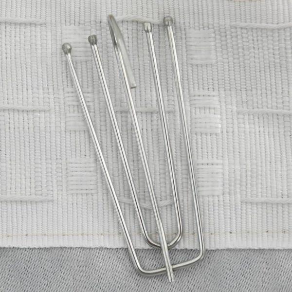 Verdunkelungsvorhänge Haken Leinenoptik 2 Stk. Beige 140×175 cm