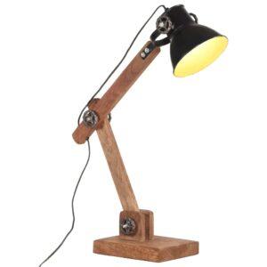 Schreibtischlampe Industriestil Schwarz Rund 58x18x90 cm E27