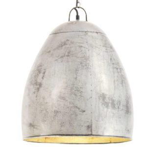 Hängelampe Industriestil 25 W Silbern Rund 42 cm E27