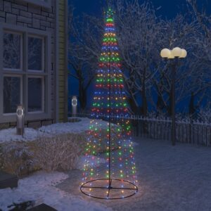 Weihnachtskegelbaum 330 Bunte LEDs Dekoration 100×300 cm