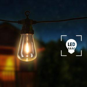 Garten-Lichterkette 20 Stk. Oval Weihnachtsdekoration 23m
