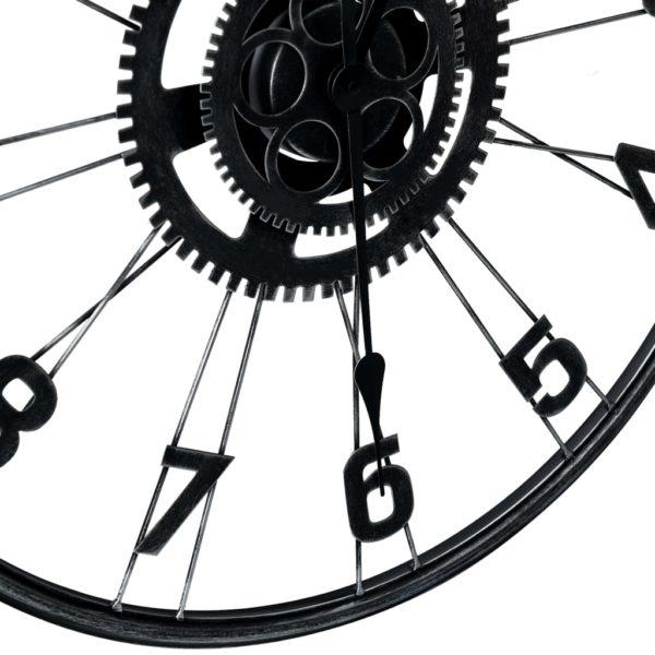 Wanduhr Schwarz 60 cm Metall