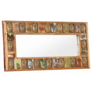 Spiegel mit Buddha-Verzierung 110×50 cm Recyceltes Massivholz
