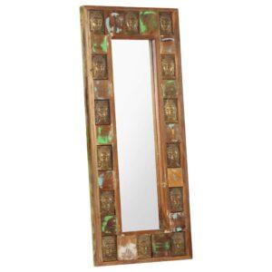 Spiegel mit Buddha-Verzierung 50×110 cm Recyceltes Massivholz