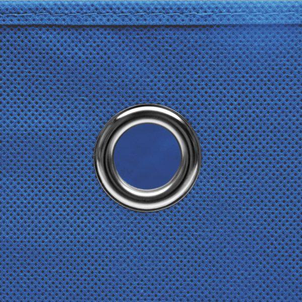 Aufbewahrungsboxen mit Deckeln 4 Stk. 28x28x28 cm Blau