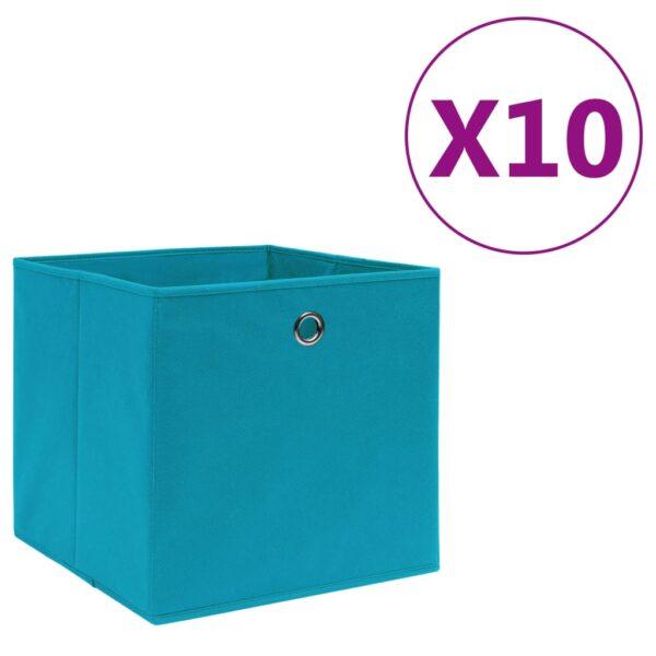 Aufbewahrungsboxen 10 Stk. Vliesstoff 28x28x28 cm Babyblau