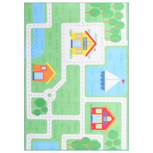 Teppich Bedruckt Mehrfarbig 140×200 cm Stoff