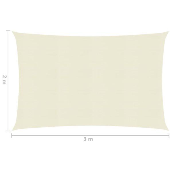 Sonnensegel 160 g/m² Creme 2×3 m HDPE