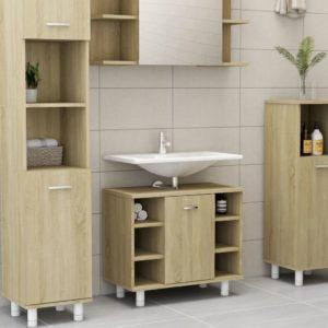 Badezimmerschrank Sonoma-Eiche 60x32x53,5 cm Spanplatte