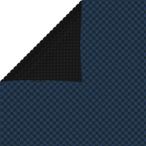 Treibende Pool-Solarplane PE 600×300 cm Schwarz und Blau