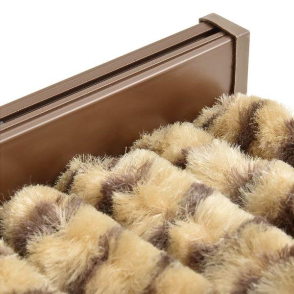 Insektenschutz-Vorhang Beige und Braun 100×220 cm Chenille