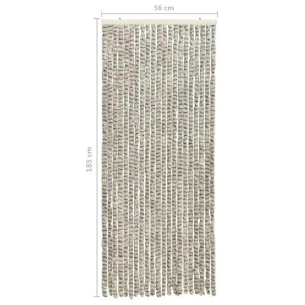 Insektenschutz-Vorhang Hell- und Dunkelgrau 56×185 cm Chenille