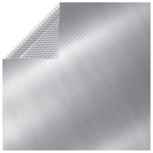 Rechteckige Poolabdeckung 800×500 cm PE Silbern