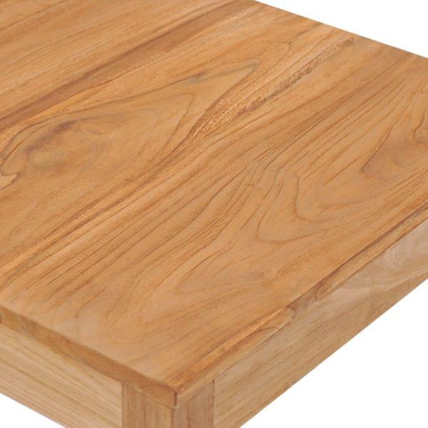 Garten-Bartisch 60×60×105 cm Massivholz Teak