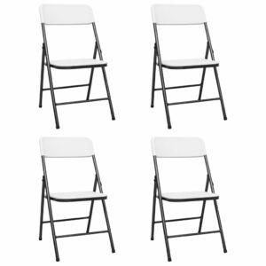 Gartenstühle Klappbar 4 Stk. HDPE Weiß