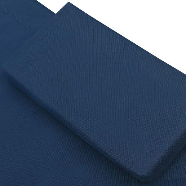 Garten-Sonnenliege Stoff Blau