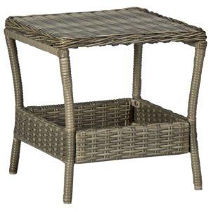 Gartentisch Braun 45x45x46,5 cm Poly Rattan