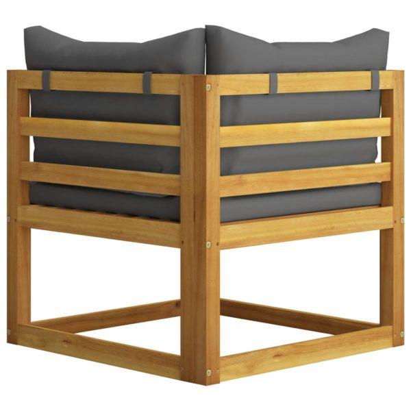 6-tlg. Garten-Lounge-Set mit Auflagen Massivholz Akazie