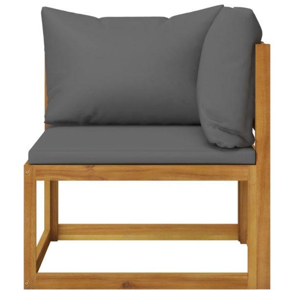 8-tlg. Garten-Lounge-Set mit Auflagen Massivholz Akazie