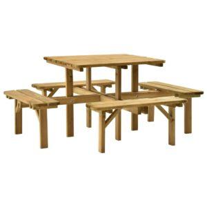 Picknicktisch 172x172x73 cm Kiefernholz Imprägniert