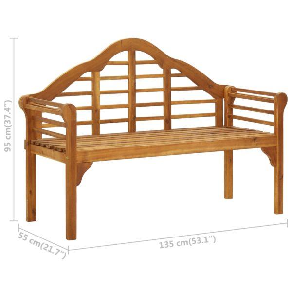 Queen-Gartenbank mit Auflage 135 cm Massivholz Akazie