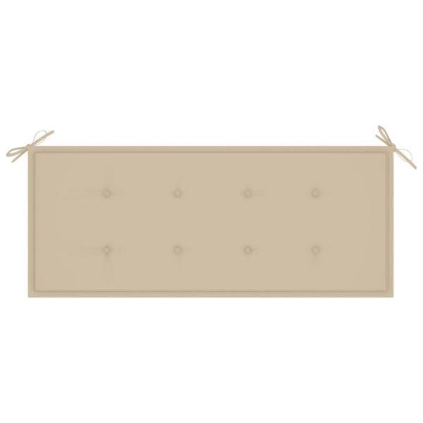 Queen-Gartenbank mit Auflage 135 cm Massivholz Akazie Grau