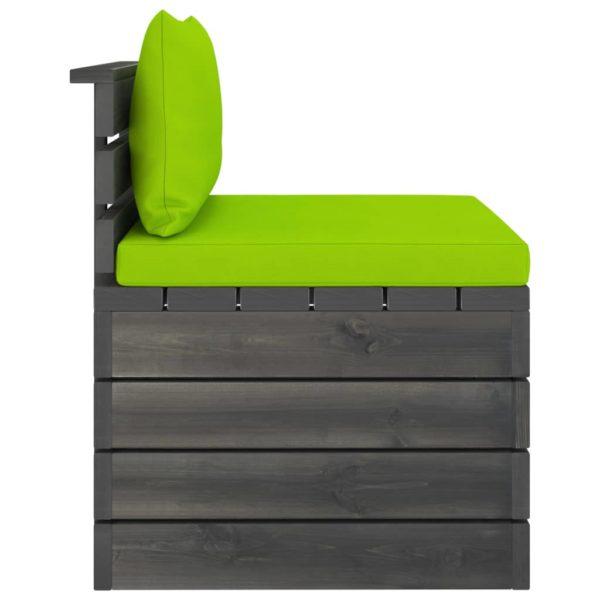 2-tlg. Garten-Sofagarnitur aus Paletten mit Kissen Kiefernholz