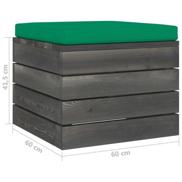 Garten-Paletten-Hocker 2 Stk. mit Kissen Kiefer Massivholz