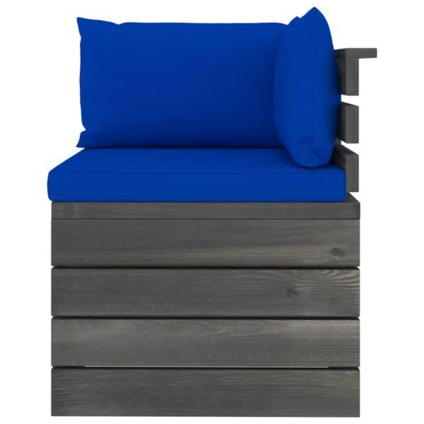 Garten-Palettensofa 2-Sitzer mit Kissen Kiefer Massivholz
