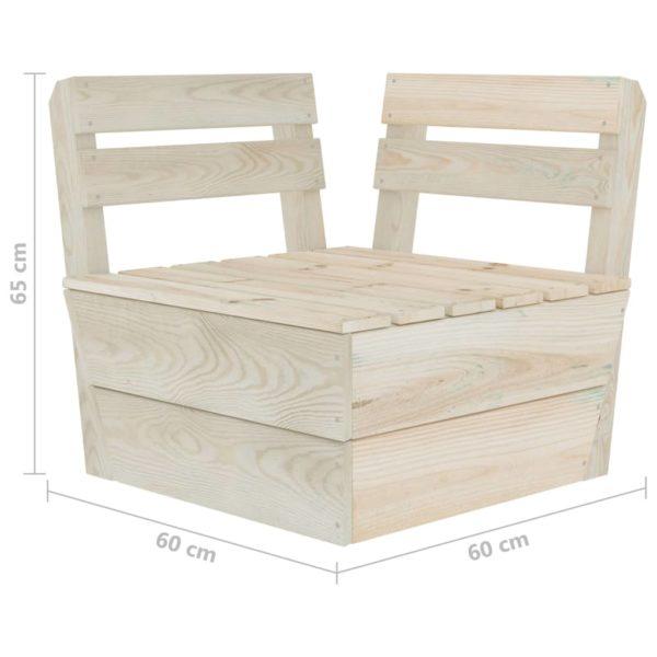 7-tlg. Garten-Paletten-Lounge-Set Imprägniertes Fichtenholz