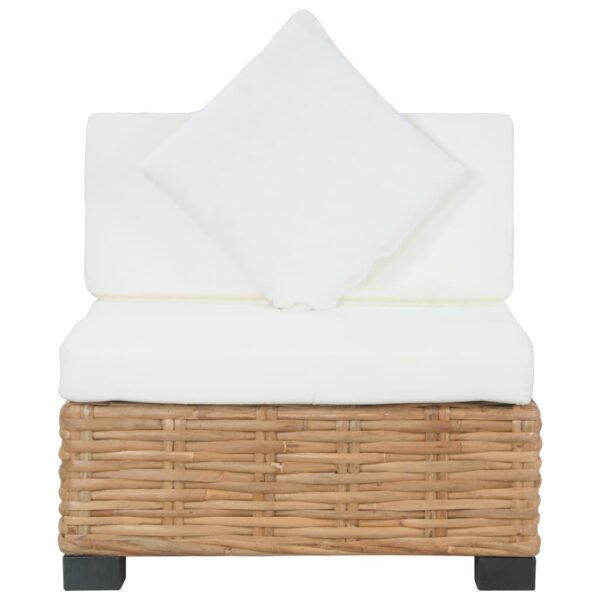 Sofa ohne Armlehnen mit Auflagen Natur Rattan