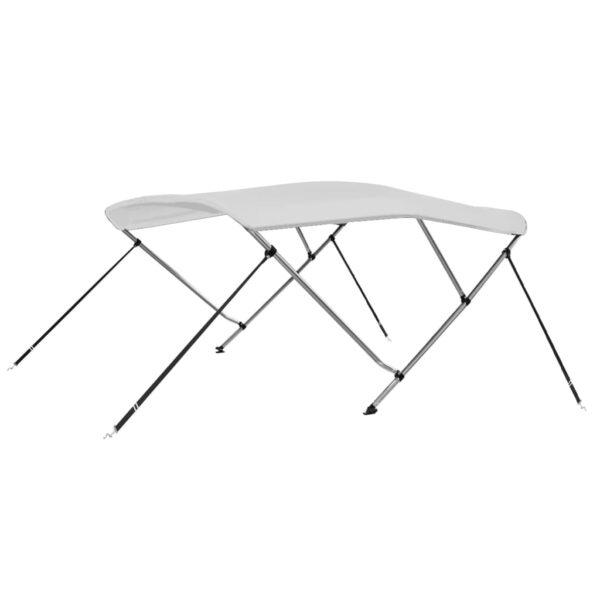 3-Bow Bimini Top Weiß 183 x 140 x 140 cm