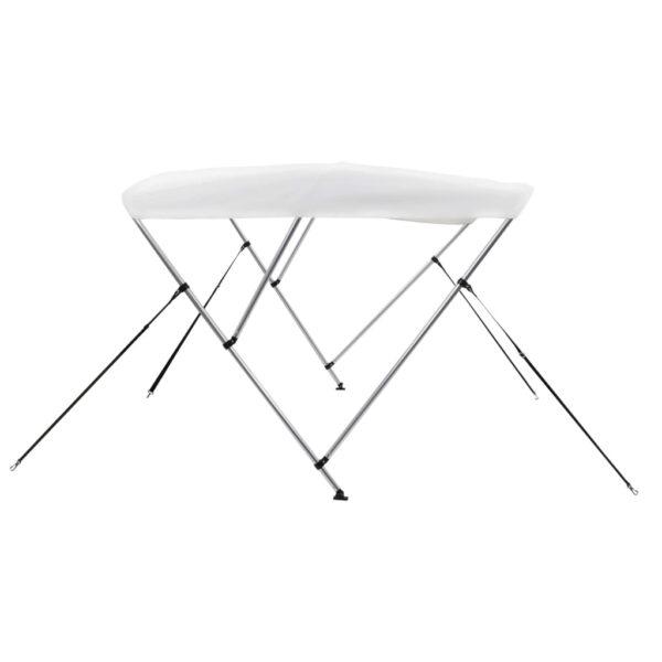 3-Bow Bimini Top Weiß 183 x 196 x 140 cm