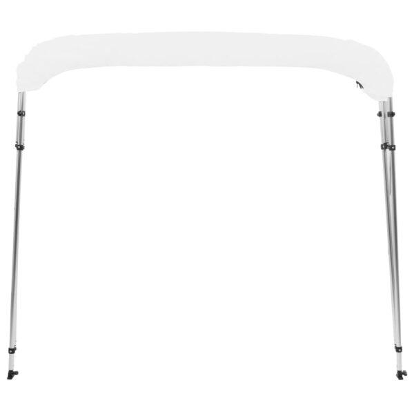 4-Bow Bimini Top Weiß 243x196x117 cm