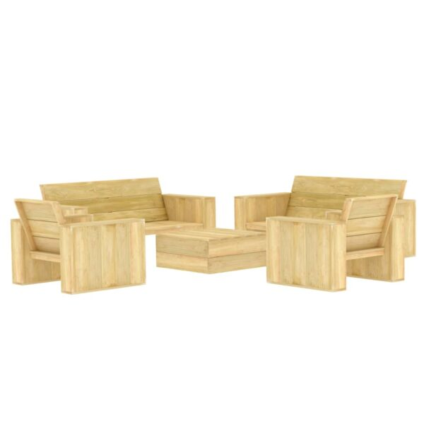 5-tlg. Garten-Lounge-Set Kiefernholz Imprägniert