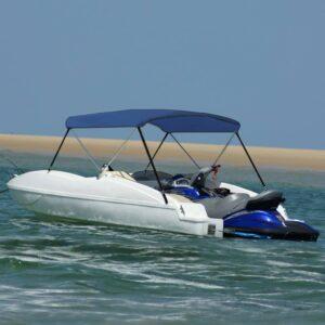 2-Bow Bimini Top Marineblau 180x130x110 cm