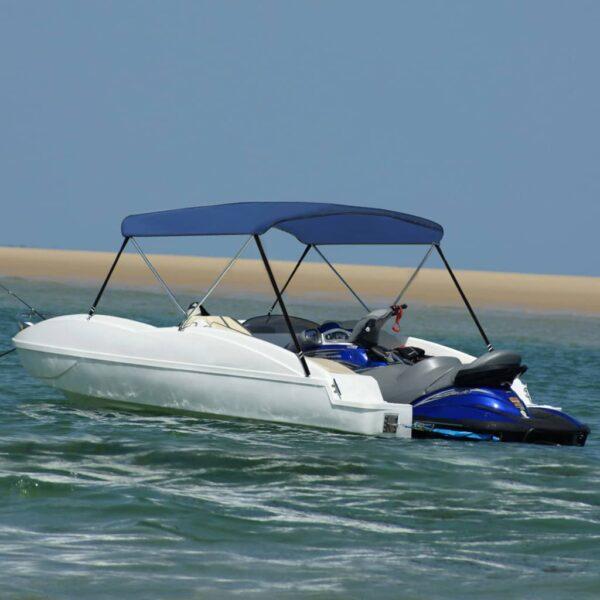2-Bow Bimini Top Marineblau 180x150x110 cm