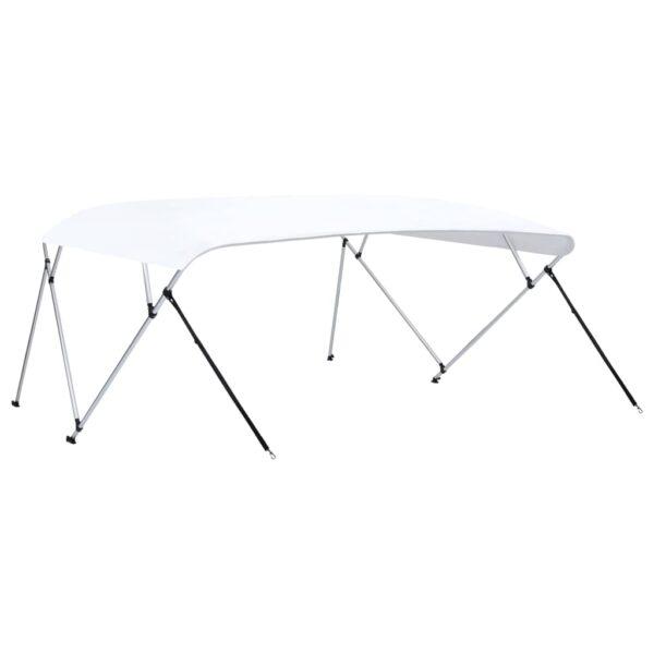 4-Bow Bimini Top Weiß 243x(230-244)x137 cm